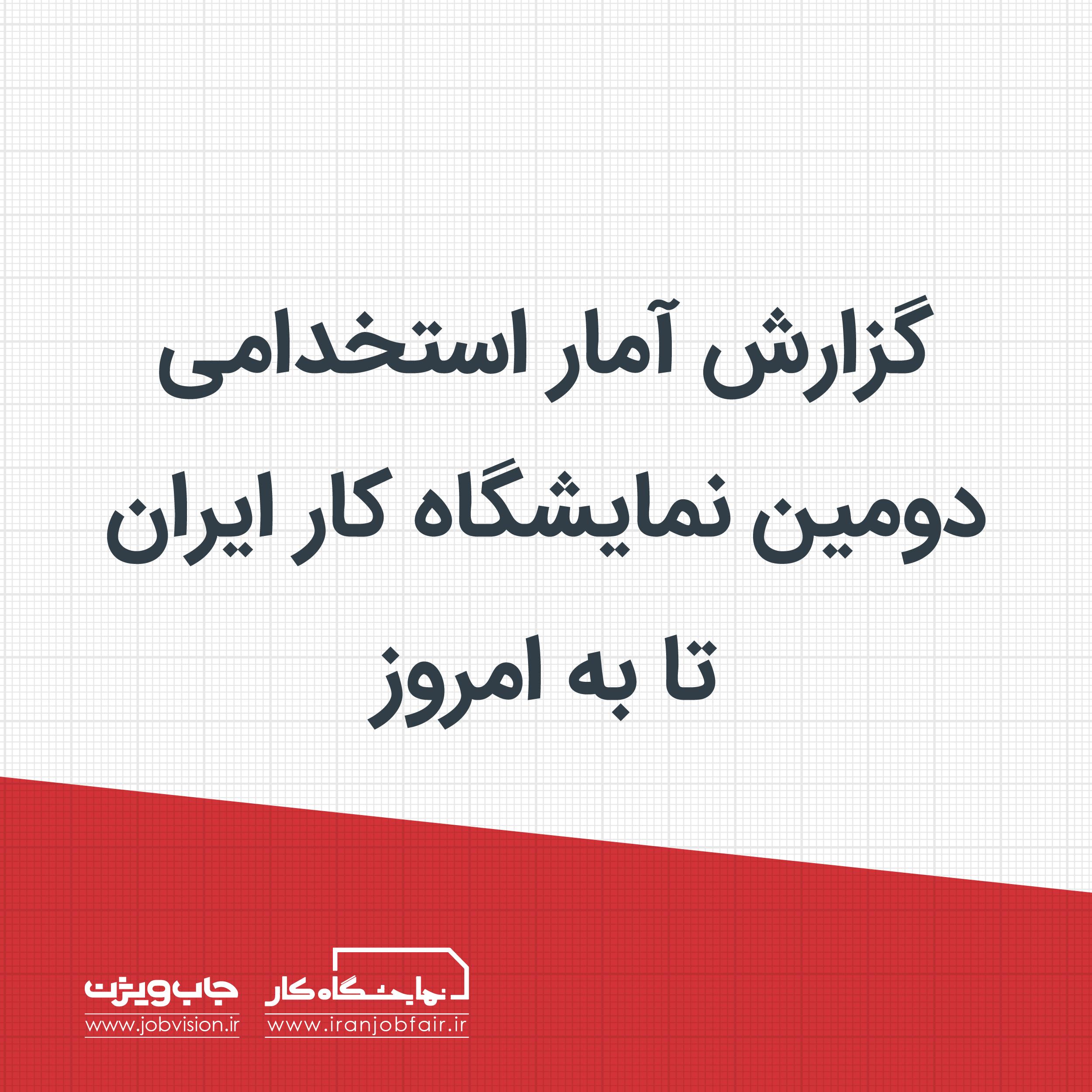 گزارش آمار استخدامی دومین نمایشگاه کار ایران تا به امروز