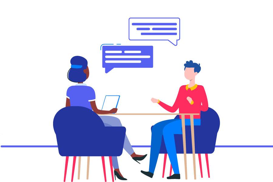جلسه مصاحبه استخدام کارشناس فروش
