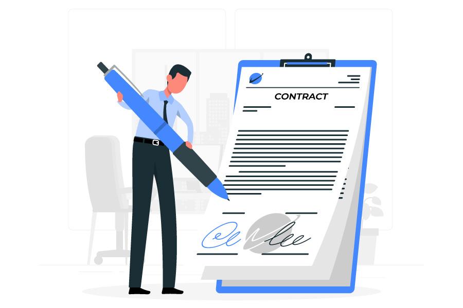 امضای قرارداد کار