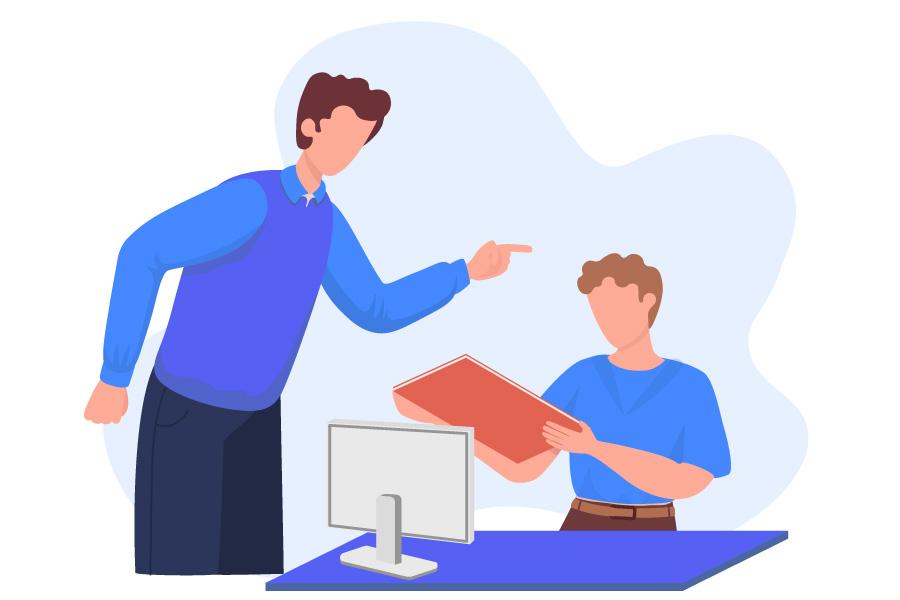 بدرفتاری با کارمند